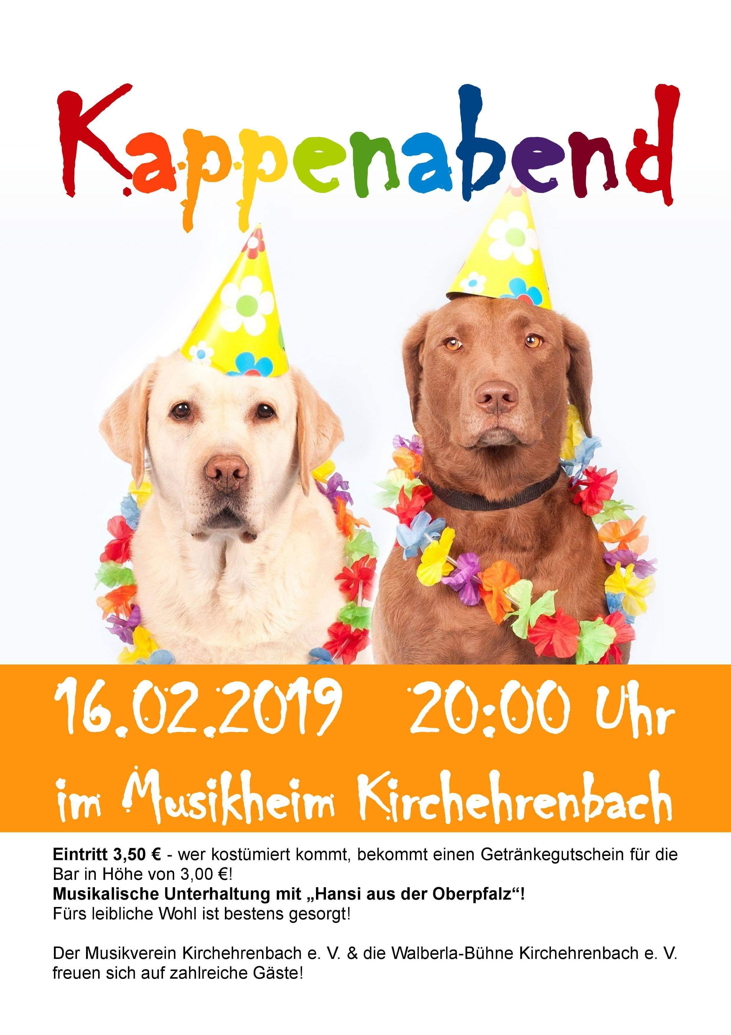 Fasching oder Kappenabend 2019 Kirchehrenbach